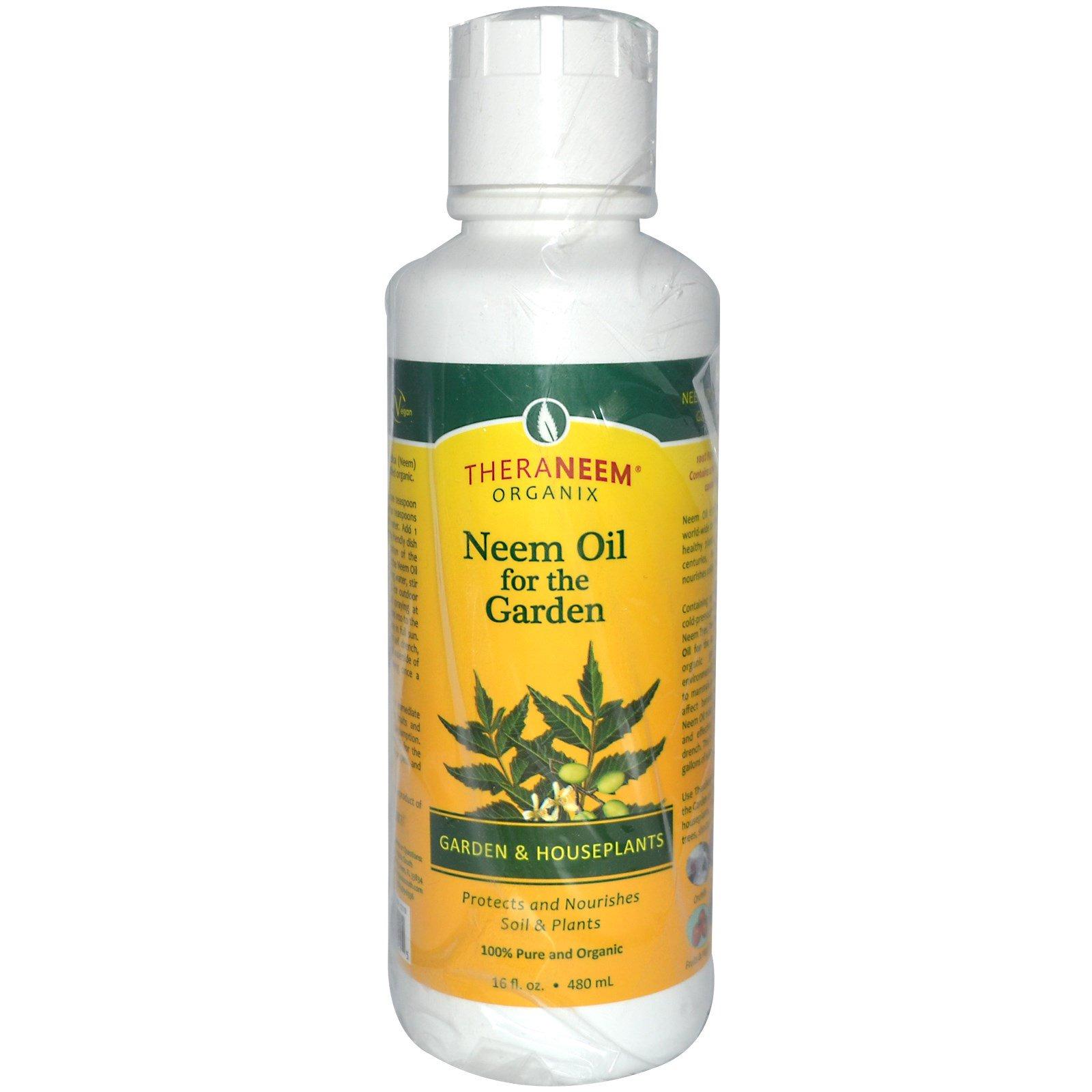 Organix South, TheraNeem Organix, Neem Oil for the Garden, Garden and Houseplants, 16 fl oz (480 ml)