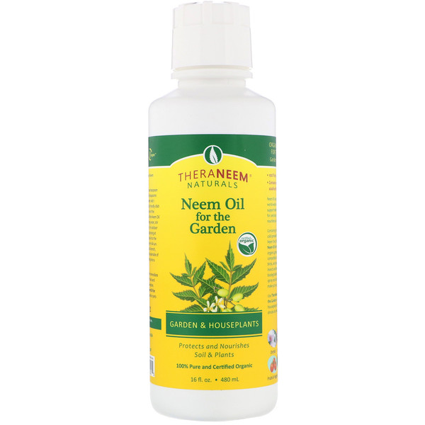 Organix South, TheraNeem Naturals, Neem Oil for the Garden, Garden and Houseplants, 16 fl oz (480 ml)