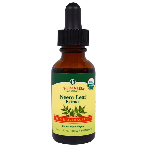 Organix South, Theraneem Naturals, Neem Leaf Extract, Skin & Liver Support, 1 fl oz (30 ml) (Discontinued Item)