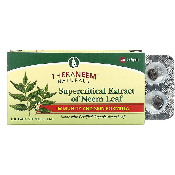 TheraNeem Organix, Supercritical Extract of Neem Leaf, 30 Softgels