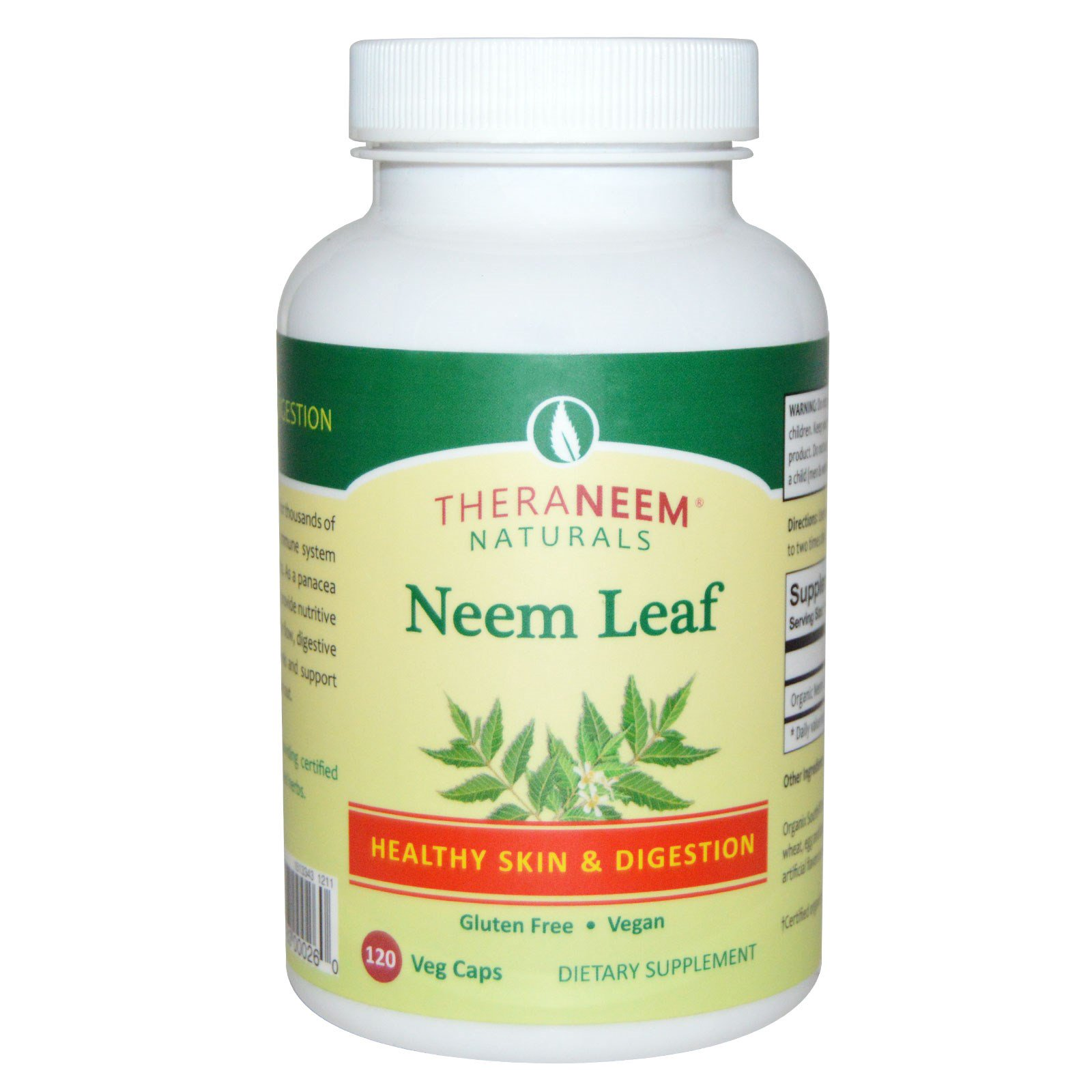 Organix South, TheraNeem Organix, Neem Leaf, 120 Veggie Caps