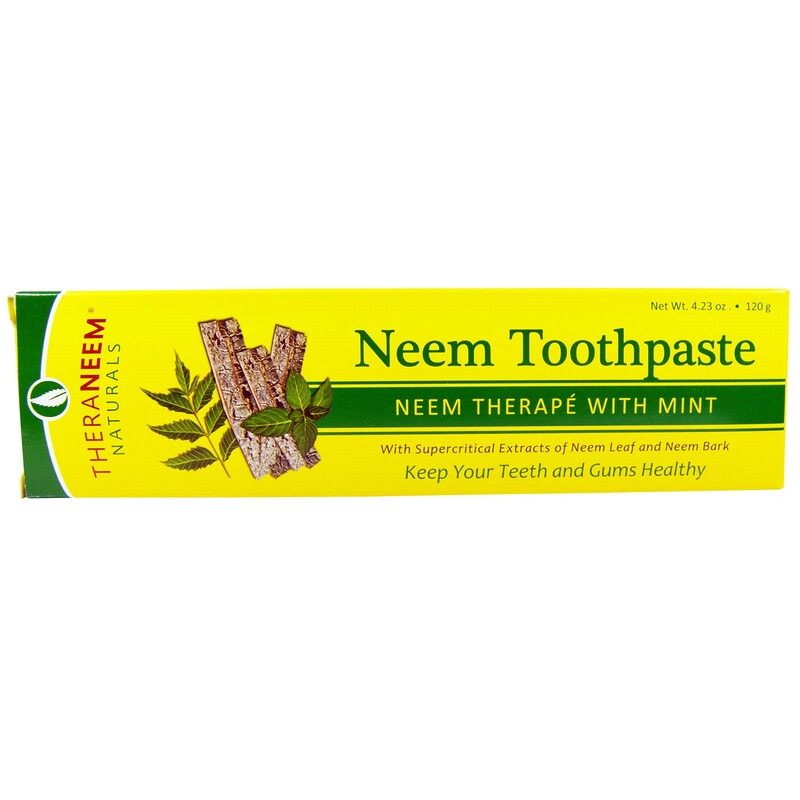 TheraNeem Naturals, Neem Therapé with Mint, Neem Toothpaste, 4.23 oz (120 g)