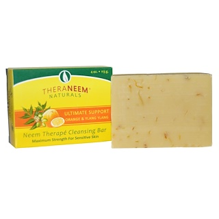 Organix South, TheraNeem Naturals, Neem Therapé Cleansing Bar, Ultimate Support Orange & Ylang Ylang, 4 oz (113 g)