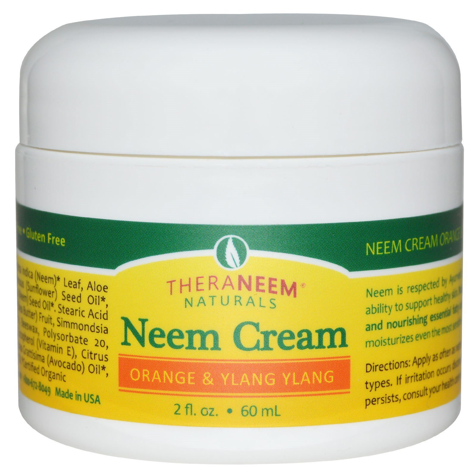Organix South, TheraNeem, Neem Cream, Orange & Ylang Ylang, 2 fl oz (60 ml)