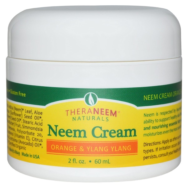 Organix South, TheraNeem Naturals, Neem Cream, Orange & Ylang Ylang, 2 fl oz (60 ml) (Discontinued Item)