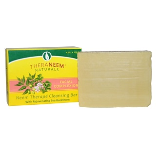 Organix South, TheraNeem Naturals, Therapé, Cleansing Bar, Facial Complexion, 4 oz (113 g)