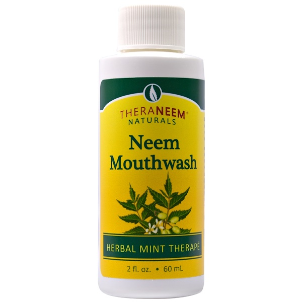 TheraNeem Naturals, Herbal Mint Therapé, Neem Mouthwash, 2 fl oz (60 ml)