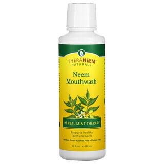 Organix South, TheraNeem Naturals, Neem Mouthwash, Herbal Mint Therape, 16 fl oz (480 ml)