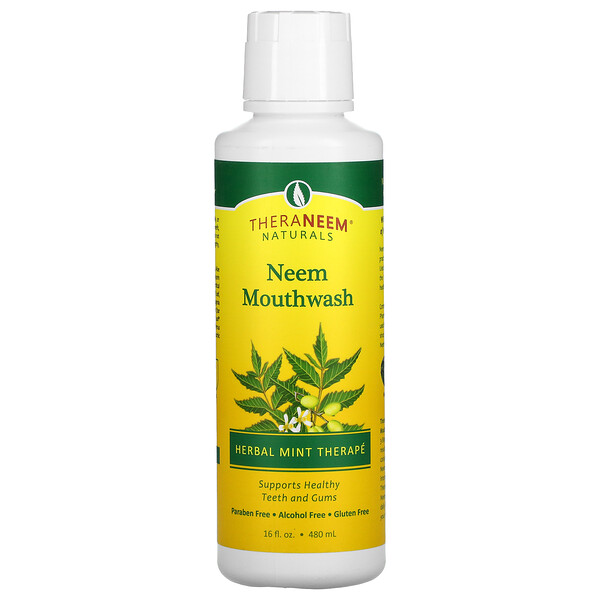 TheraNeem Naturals, Neem Mouthwash, Herbal Mint Therape, 16 fl oz (480 ml)