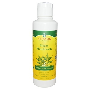 Органикс Саут, TheraNeem Naturals, Herbal Mint Therape, Neem Mouthwash, 16 fl oz (480 ml) отзывы покупателей