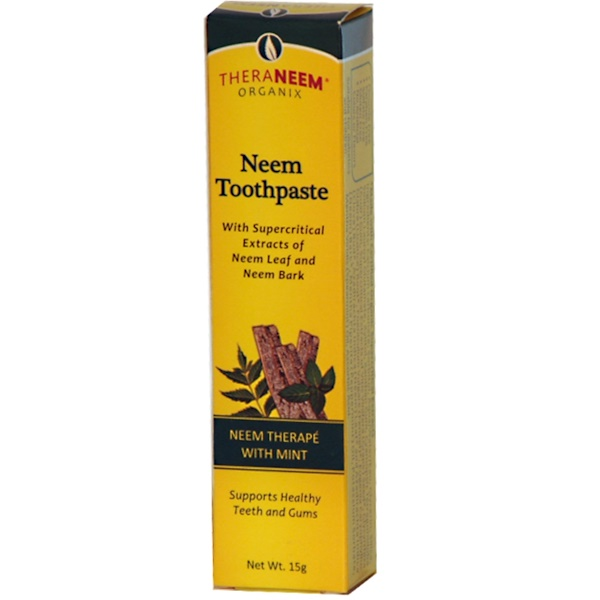 Organix South, TheraNeem, Neem Toothpaste, Neem Therapé with Mint, 15 g (Discontinued Item)