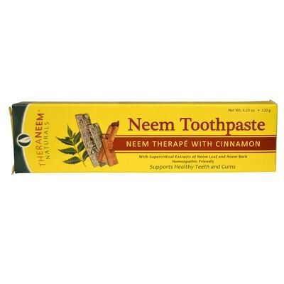 Купить TheraNeem Organix, Зубная паста c нимом и корицей, 4, 23 унций (120 г)