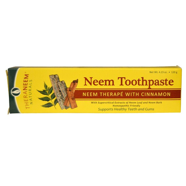 TheraNeem Naturals, Neem Therapé with Cinnamon, Neem Toothpaste, 4.23 oz (120 g)