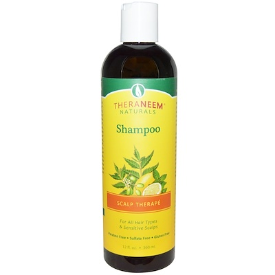 TheraNeem Naturals, Scalp Therapé – состав для кожи головы, шампунь, 360 мл (12 жидких унций)
