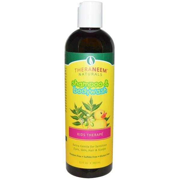 Organix South, TheraNeem,洗髮水和沐浴露,兒童Therapé,印楝和洋甘菊,12液體盎司(360毫升)