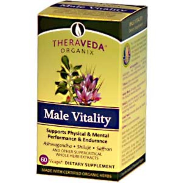 Organix South, TheraVeda, Male Vitality Formula, 60 Vcaps (Discontinued Item)