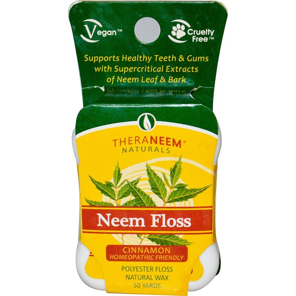 TheraNeem Naturals, Neem Floss, Cinnamon, 50 Yards