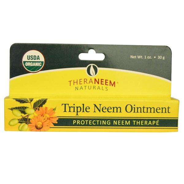 Organix South, TheraNeem Naturals, Neem Therapé, Triple Neem Ointment, 1 oz (30 g) (Discontinued Item)