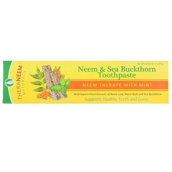 Organix South, Neem & Sea Buckthorn Toothpaste, Neem Therape With Mint, 4.23 oz (120 g)