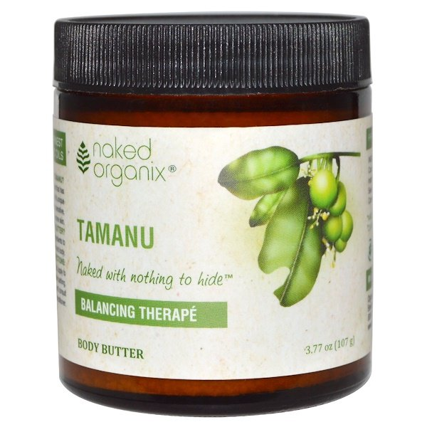 Organix South, Naked Organix, Balancing Therapé, Tamanu Body Butter, 3.77 oz (107 g) (Discontinued Item)