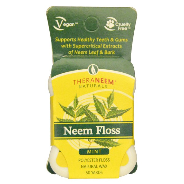 Organix South, TheraNeem Naturals, Neem Floss, Mint, 50 Yards