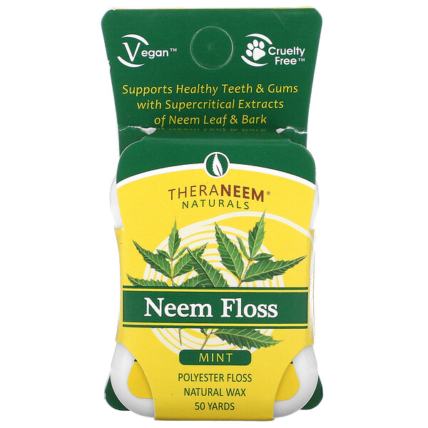 TheraNeem Naturals, Neem Floss, Mint, 50 Yards
