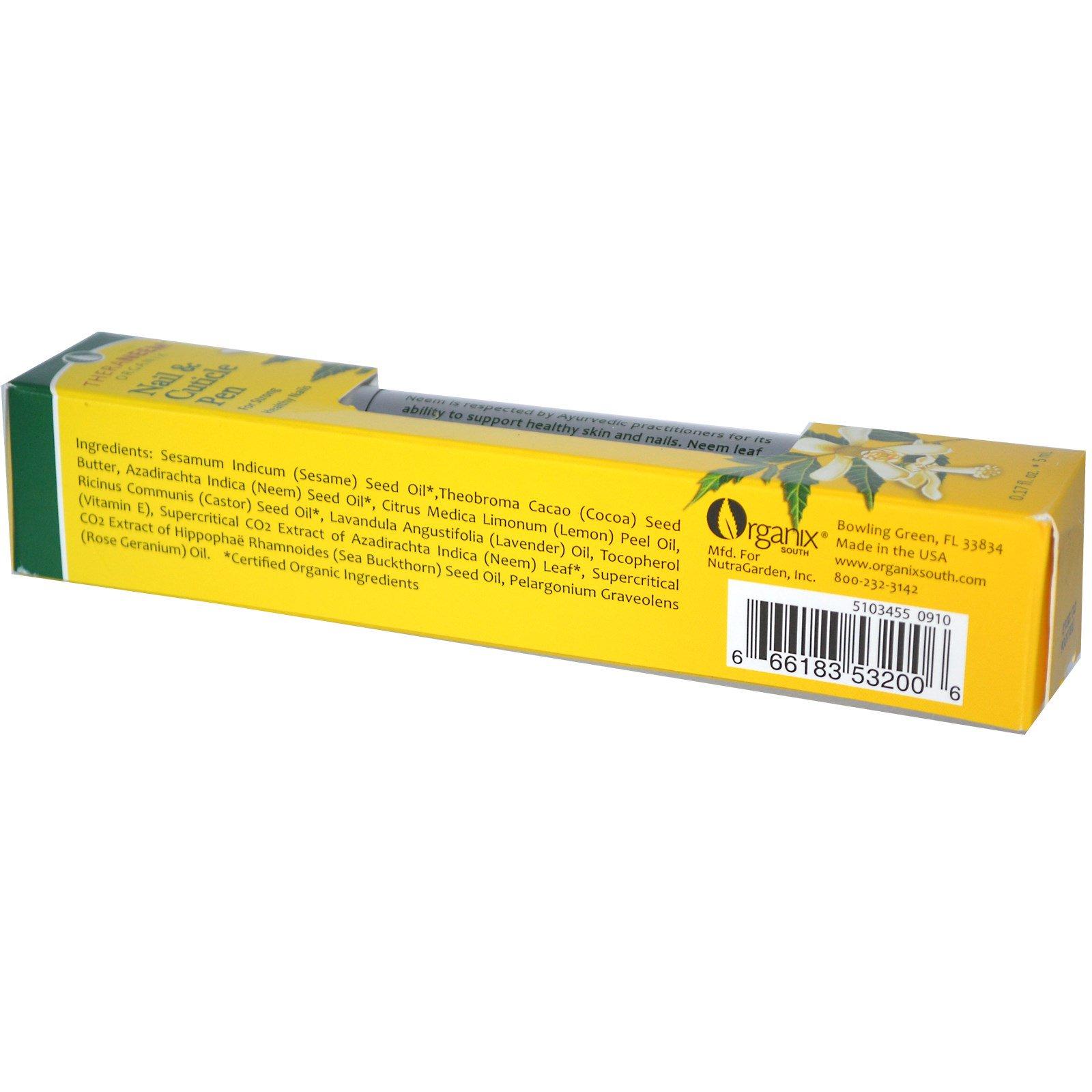 Organix South, TheraNeem Organix, карандаш для ногтей и кутикулы, 0,17 жидких унций (5 мл)