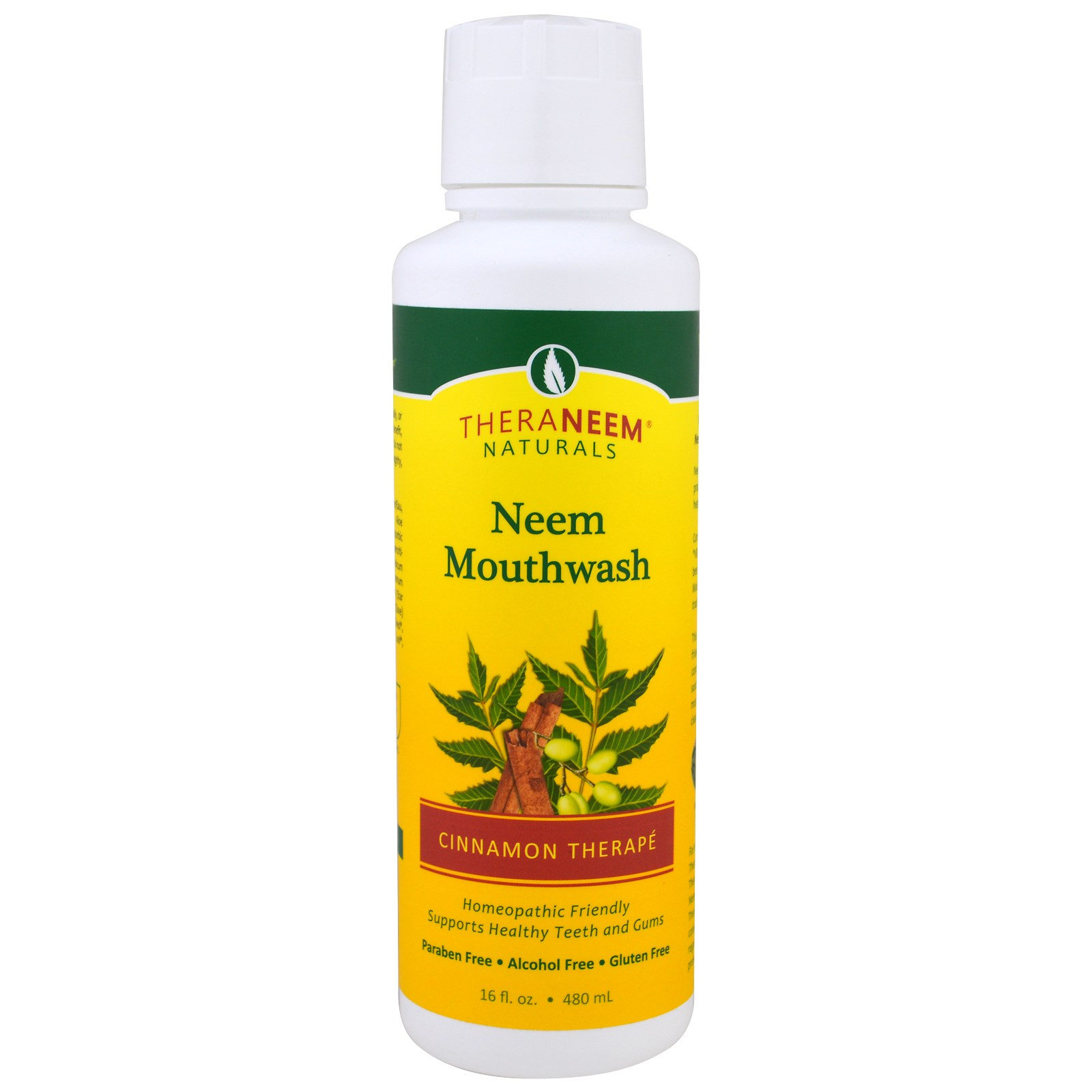 Organix South, TheraNeem Naturals, Cinnamon Therapé, Neem Mouthwash, 16 fl oz (480 ml)