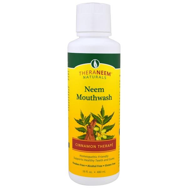 Organix South, TheraNeem Naturals, Cinnamon Therapé, Neem Mouthwash, 16 fl oz (480 ml)