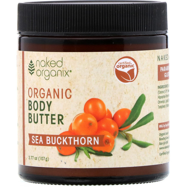 Organix South, Naked Organix, Organic Body Butter, Sea Buckthorn, 3.77 oz (107 g) (Discontinued Item)