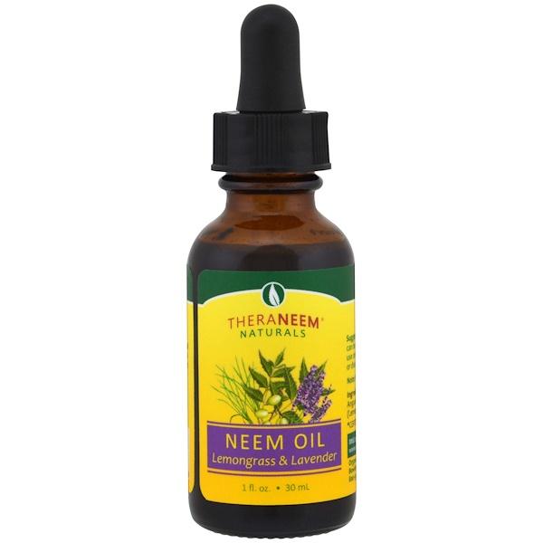 Organix South, TheraNeem Naturals,印楝油,檸檬草和薰衣草味,1液體盎司(30毫升)