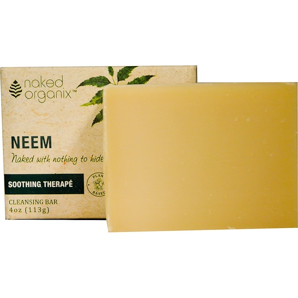 Organix South, Neem, Cleansing Bar, Fragrance Free, 4 oz (113 g) (Discontinued Item)