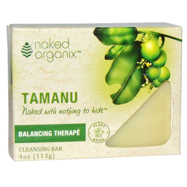 Organix South, Naked Organix, Balancing Therapé, Tamanu Cleansing Bar, Fragrance Free, 4 oz (113 g)