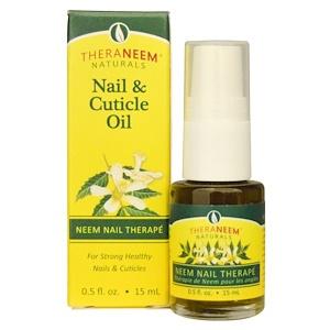 Органикс Саут, TheraNeem Naturals, Neem Nail Therape, Nail & Cuticle Oil, 0.5 fl oz (15 ml) отзывы