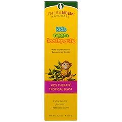 Organix South, TheraNeem Naturals, Kids Therapé, Kids Neem Toothpaste, Tropical Blast, 4.23 oz (120 g)