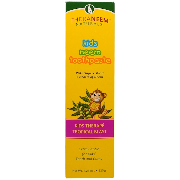 Organix South, TheraNeem Naturals, Kids Therapé, Kids Neem Toothpaste, Tropical Blast, 4.23 oz (120 g) (Discontinued Item)
