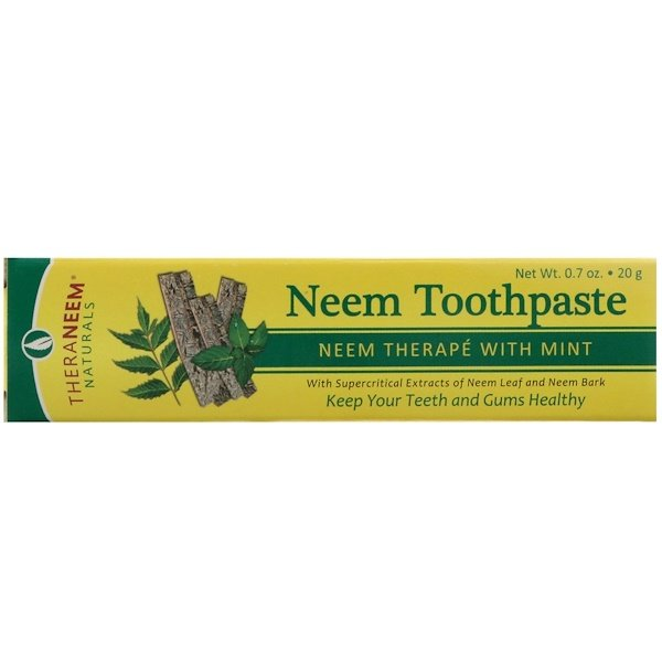 Organix South, TheraNeem Naturals, Neem Therapé with Mint, Neem Toothpaste, 0.7 oz (20 g) (Discontinued Item)