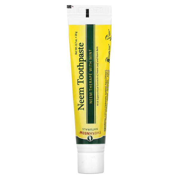 Organix South, TheraNeem Naturals, Neem Therapé with Mint, Neem Toothpaste, 0.7 oz (20 g)