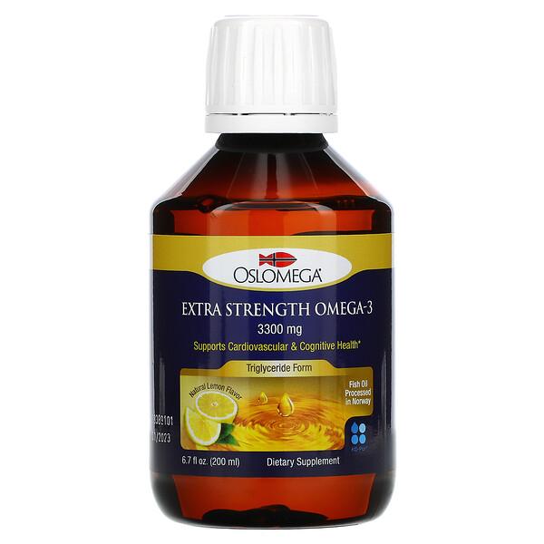 Norwegian Extra Strength Omega-3, Natural Lemon Flavor, 3,300 mg, 6.7 fl oz (200 ml)