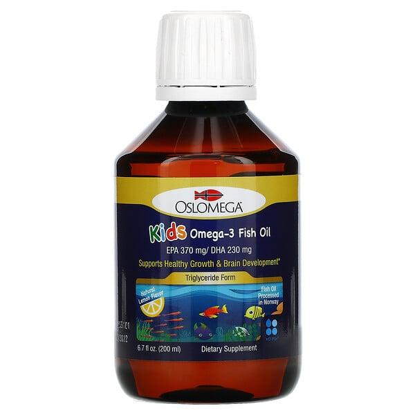 Norwegian Kids Omega-3 Fish Oil, Natural Lemon Flavor, 6.7 fl oz (200 ml)