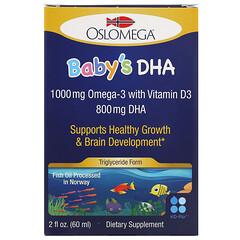 Oslomega, DHA noruego con vitaminaD3 para bebés, 60ml (2oz.líq.)