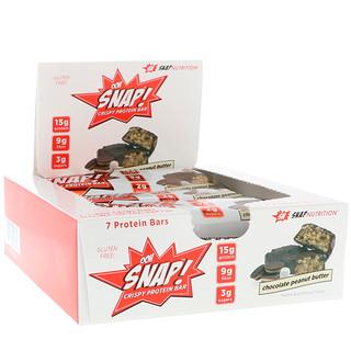 OOH Snap!, Crispy Protein Bar, Chocolate Peanut Butter, 7 Protein Bars, 1.4 oz (41 g) Each