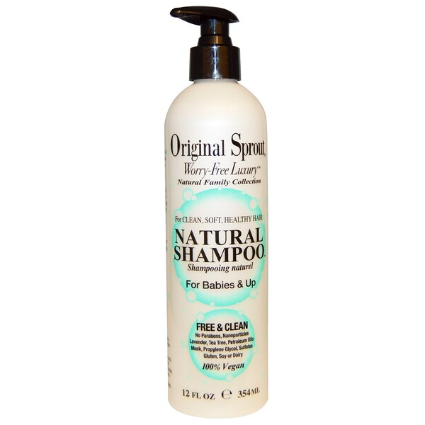 Natural Shampoo, For Babies & Up, 12 fl oz (354 ml)