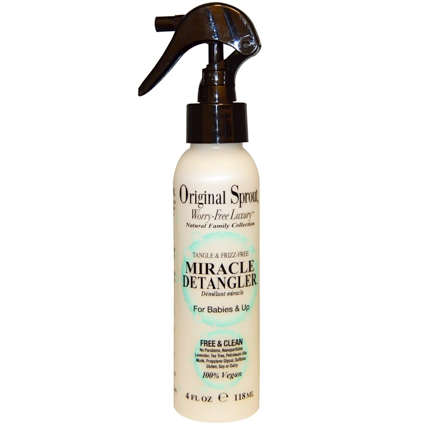 Original Sprout, Miracle Detangler, For Babies & Up, 4 fl oz (118 ml)