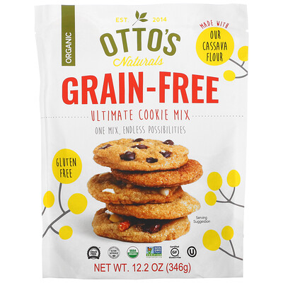 Купить Otto's Naturals Grain Free, Ultimate Cookie Mix, 12.2 oz (346 g)