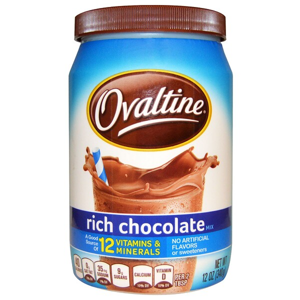 Ovaltine, Rich Chocolate Mix, 12 oz (340 g) (Discontinued Item)