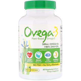 Ovega-3, Ovega-3, 500 mg, 60 Vegetarian Softgels