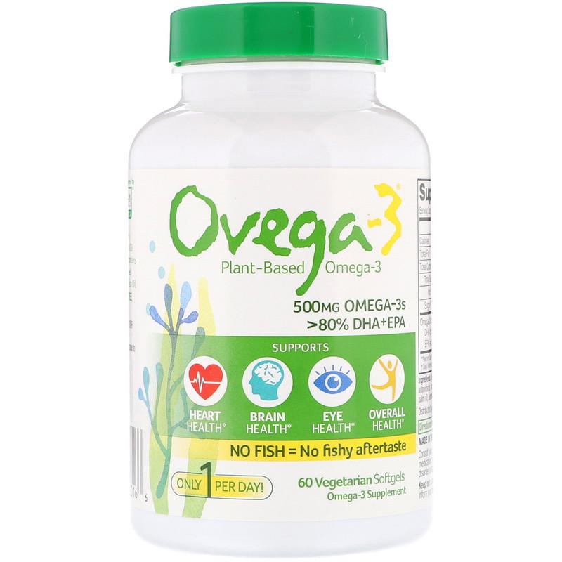 Ovega-3, Ovega-3,DHA + EPA,500 毫克,60 素食軟膠囊
