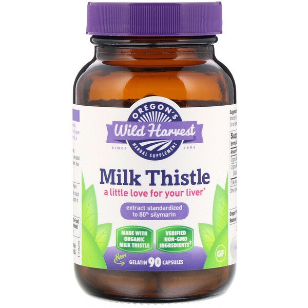 Oregon's Wild Harvest, Milk Thistle, 90 Gelatin Capsules