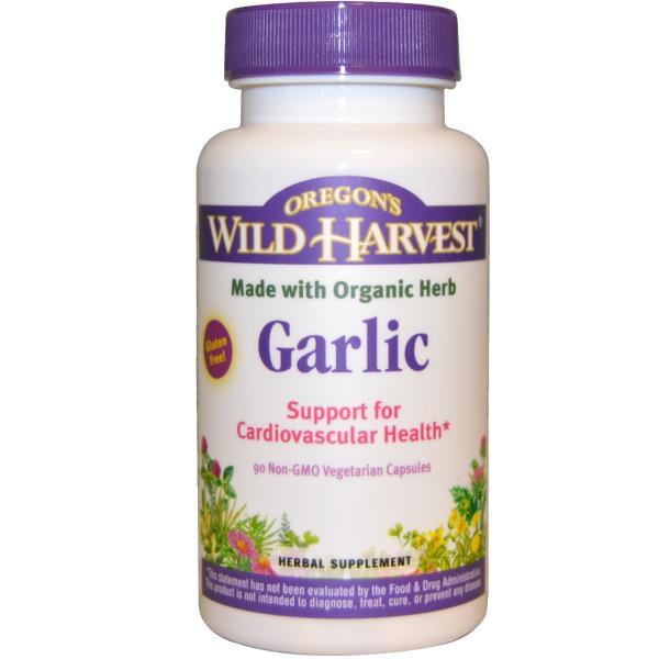 Oregon's Wild Harvest, Garlic, 90 Non-GMO Veggie Caps